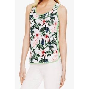 Vince Camuto Floral Sleeveless Blouse Size L